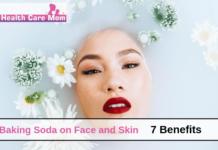Baking soda on face
