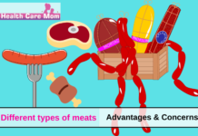 Different types of meats