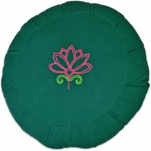 YogaAccessories Round Cotton Zafu Meditation Cushion